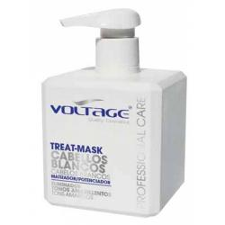 Mascarilla cabellos Blancos/Grises 500ml Voltage
